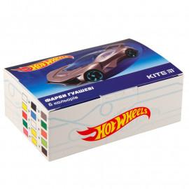 Гуаш 6 кольорів по 20 мл Kite Hot Wheels HW19-062, 40662