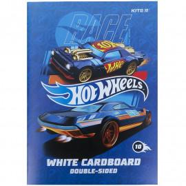 Картон А4 білий 10 аркушів Kite Hot Wheels HW21-254, 47181