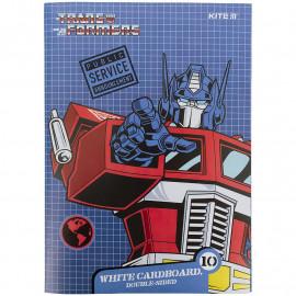 Картон А4 білий 10 аркушів Kite Transformers TF21-254, 47177