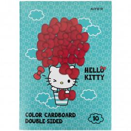 Картон А4 кольоровий двосторонній 10 аркушів 10 кольорів Kite Hello Kitty HK21-255, 47186