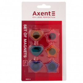Набір магнітів фігурних Axent діаметр 30 мм 6 штук 9822-A, 21567