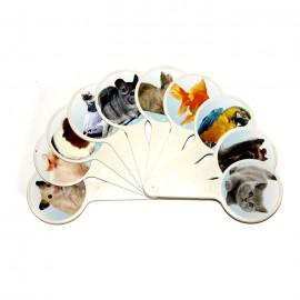 Веер с картинками домашние животные Атлас, К-5376, 900687