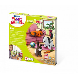 Набір полімерної глини Fimo Kids Домашні улюбленці 4 кольори по 42 грама Staedtler, 803402