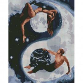 Картина алмазна мозаїка Інь і янь 40х50 см Ідейка, АМ6143, 319221