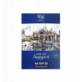 Папір для акварелі А4 Архітектура Rosa Studio білий дрібне зерно 200 г/м2, 169153002