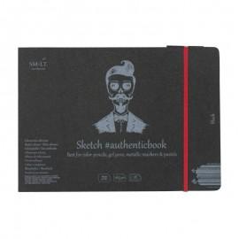 Альбом для малюнку Authentic Smiltainis чорний папір 18 аркушів 24,5х17,6 см 165 г/м2, 587712