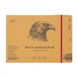 Альбом для ескізів Authentic Smiltainis крафт папір 24 аркуші 24,5х17,6 см 90 г/м2, 587644