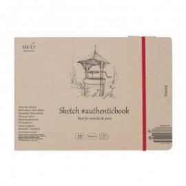 Альбом для ескізів Authentic Smiltainis сірий папір 32 аркуші 24,5х17,6 см 100 г/м2, 587668