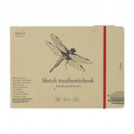Альбом для ескізів Authentic Smiltainis кремовий папір 36 аркушів 24,5х17,6 см 80 г/м2, 587637