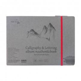 Альбом для каліграфії та леттерінгу Authentic Smiltainis 32 аркуші 24,5х17,6 см 100 г/м2, 588665