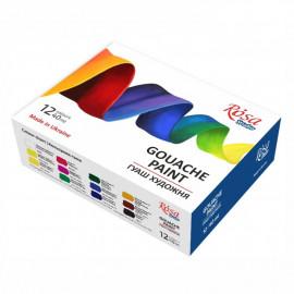 Набір гуашевих фарб 12 кольорів по 40 мл Rosa Studio, 221548