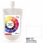 Фарба гуашева білила титанові 200 мл Rosa Studio, 323200901
