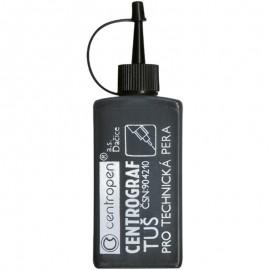 Туш для рапідографа Centropen чорна 18 грам, 01284