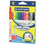 Фломастери Super Easy Centropen 12 кольорів 2580/12, 35479