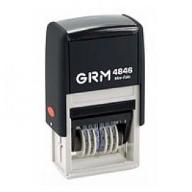 Нумератор пластиковий 6 розрядний, висота шрифту 4 мм, GRM 4846, 721179