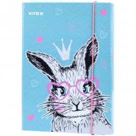 Папка В5 для зошитів на гумці картонна Kite Cute Bunny K21-210-1, 47965