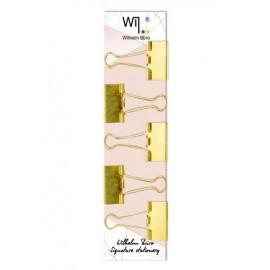 Біндери 32 мм колір золото 5 штук Wilhelm Büro WB-206, 5002066