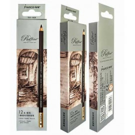 Олівець пастельний сепія Marco Raffine 7011-12CB, 902053