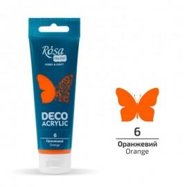 Акрил для декора оранжевый матовый 75 мл Rosa Talent, 322206