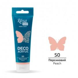 Акрил для декора персиковый матовый 75 мл Rosa Talent, 322250