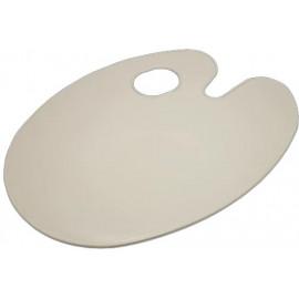 Палітра овальна пластикова біла без лунок 29х21 см AS-0224, 902063