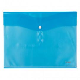 Конверт на кнопці А4 з 5 файлами напівпрозорий блакитний Axent, 1423-07-A, 36272