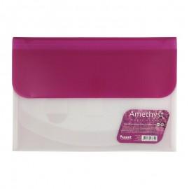 Папка-конверт на липучці Axent Amethyst Magic Stones А4 на 4 відділення бузкова 1429-13-A, 20854
