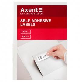 Етикетки з клейким шаром Axent 38,1х21,2 мм 65 штук на аркуші A4, 2469-A, 24696