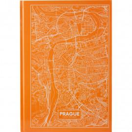 Книга записна А4 Axent Maps Prague 96 аркушів клітинка тверда обкладинка 8422-542-A, 43049