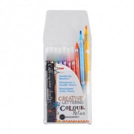 Набір маркерів для паперу двосторонніх Manuscript 10 кольорів, 700106