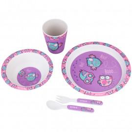 Набір посуду з бамбука у коробці Kite Owls 5 предметів K20-313-3, 44732