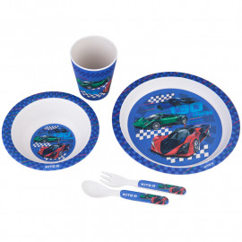 Набір посуду з бамбука у коробці Kite Racing 5 предметів K20-313-2, 43489