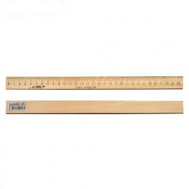 Лінійка 30 см деревяна Атлас AS-0654, 901561