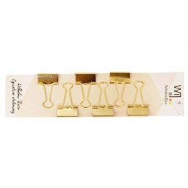 Біндери 25 мм колір золото 6 штук Wilhelm Büro WB-205, 5002059