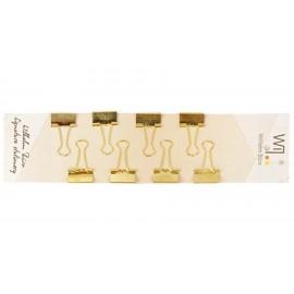 Біндери 19 мм колір золото 8 шт. Wilhelm Büro WB-204, 5002042