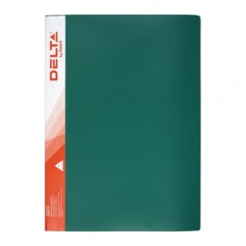 Папка пластиковая A4, 10 файлов, зеленая, Delta by Axent, D1510-05, 18370