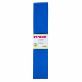 Папір креповий 55% синій 50х200 см 27 г/м2 1Вересня, 701522