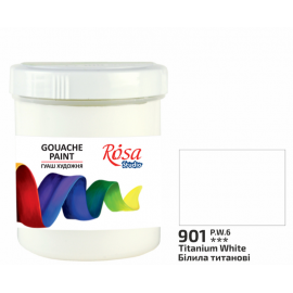 Фарба гуашева білила титанові 100 мл Rosa Studio, 323917
