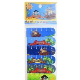 Закладки магнитные, 6 штук, Pirates, OOПT, 7015, 395890