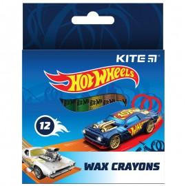Олівці воскові Kite Hot Wheels 12 кольорів НW21-070, 47395