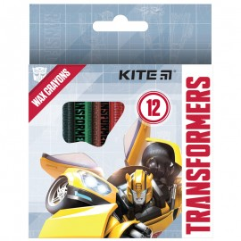Олівці воскові Kite Transformers 12 кольорів TF21-070, 47396
