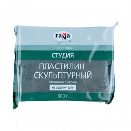 Пластилін скульптурний Гамма Студія оливковий м\'який 500 грам, 00447