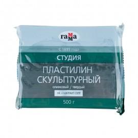 Пластилін скульптурний Гамма Студія оливковий твердий 500 грам, 00451