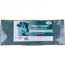 Пластилін скульптурний Гамма Студія оливковий твердий 1000 грам, 00362
