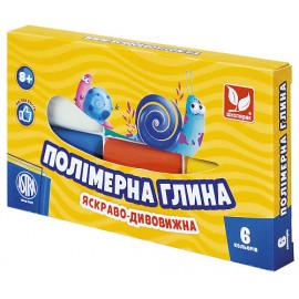 Набір полімерної глини Школярик 6 кольорів по 20 грам, 83911901