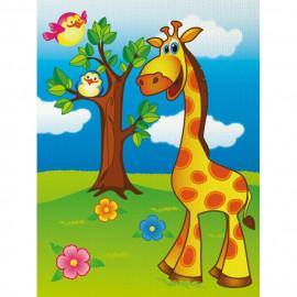 Набір акриловий розпис по контуру на полотні 18х24 см Веселий жирафик Ідейка, 7100/1, 940690
