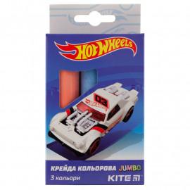 Крейда кольорова Jumbo Kite Hot Wheels 3 кольори HW19-077, 40279