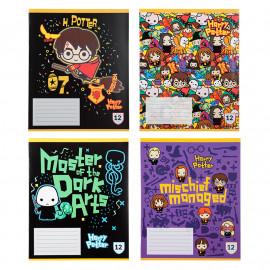 Зошит шкільний А5 Kite Harry Potter 12 аркушів клітинка HP20-232, 44850