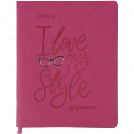 Щоденник шкільний м\'яка обкладинка PU Kite Style K21-283-3, 48459