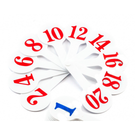 Веер цифр и чисел от 1 дот 20, Атлас, К-5371, 900724
